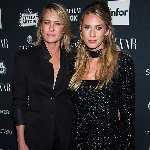 Robin Wright and Dylan Penn on red carpet
