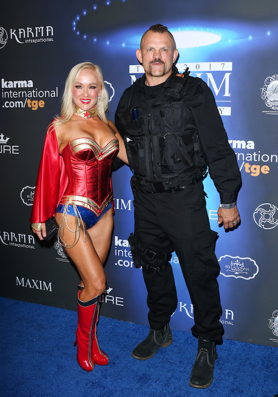 Former UFC fighter Chuck Liddell and wife Heidi Northcott at a Halloween party