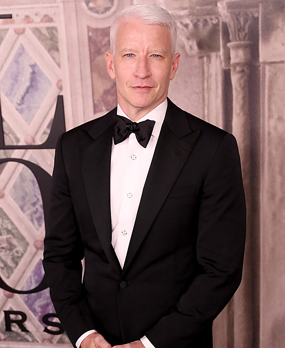 Anderson Cooper at the Ralph Lauren fashion show