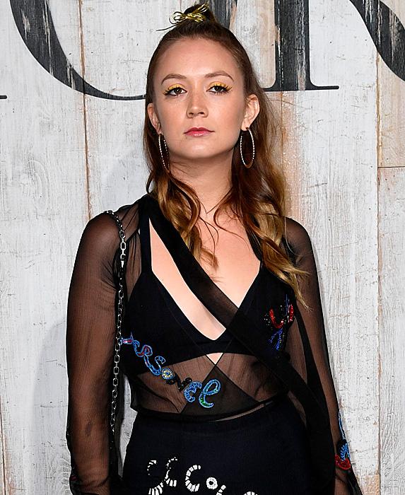 Billie Lourd at Dior's show during Paris Fashion Week
