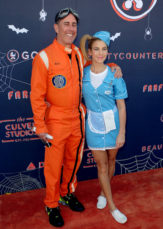 Jerry Seinfeld and Jessica Seinfeld at a 2017 Halloween party in California