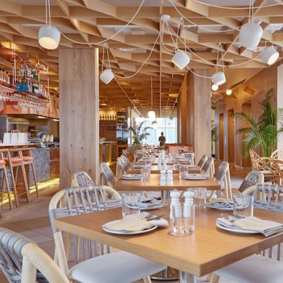 The light and airy interiors of Kost restaurant in Toronto