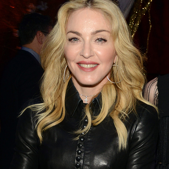 Madonna smiling wide