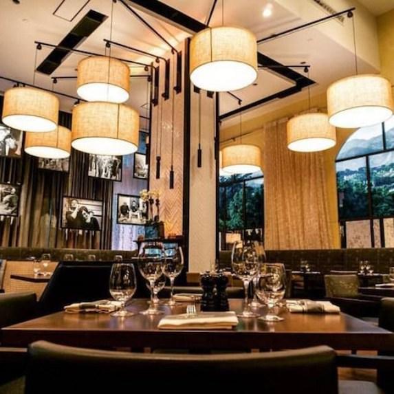 Interior evening view of Montecito Restaurant