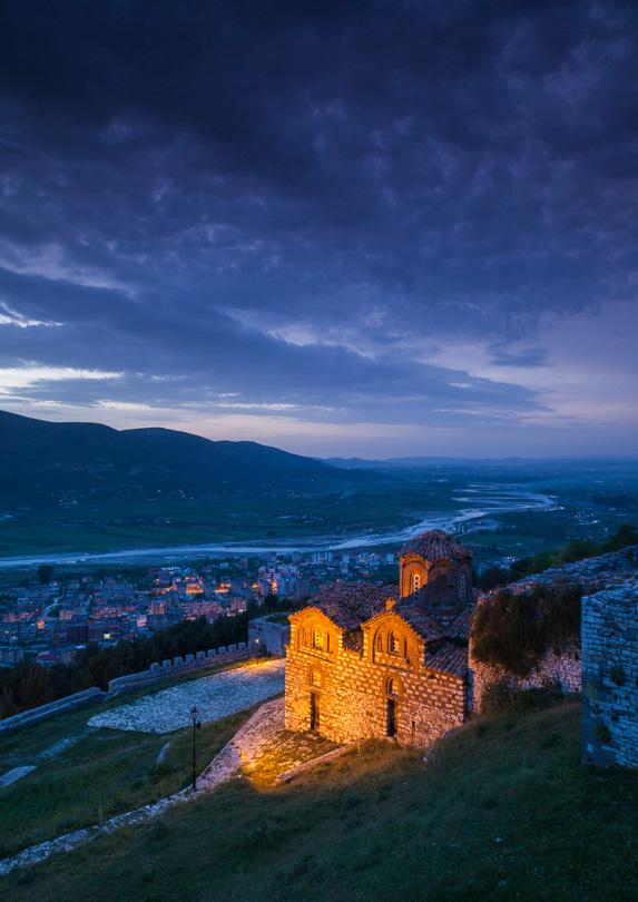 Albania at dusk