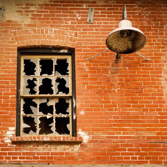 Broken factory window, Toronto, Ontario
