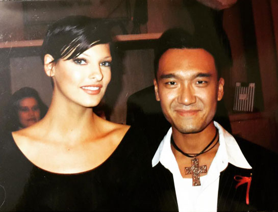 Joe Zee and Linda Evangelista