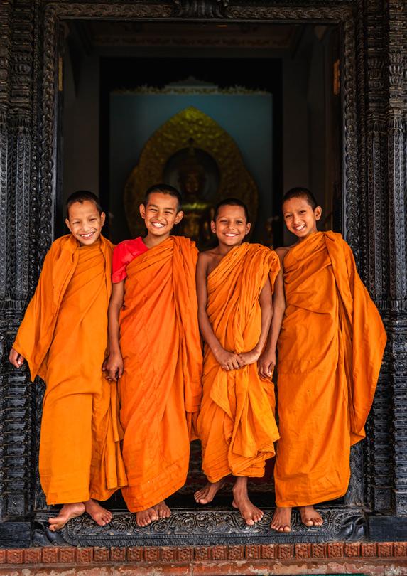 Monks in Nepal