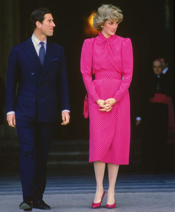 Princess Diana bold fuchsia dress