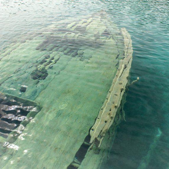 Shipwreck near Tobermory, Ontario