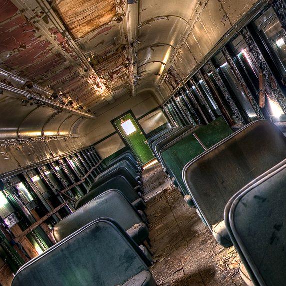 Train interior, Muskoka, Ontario