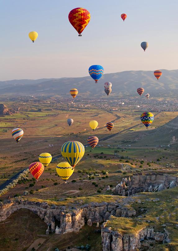 Hot air balloons over Turkey