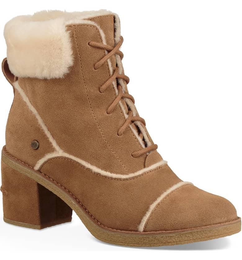 UGG shearling booties block heel