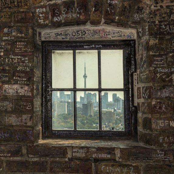 Warehouse window in Toronto, Ontario
