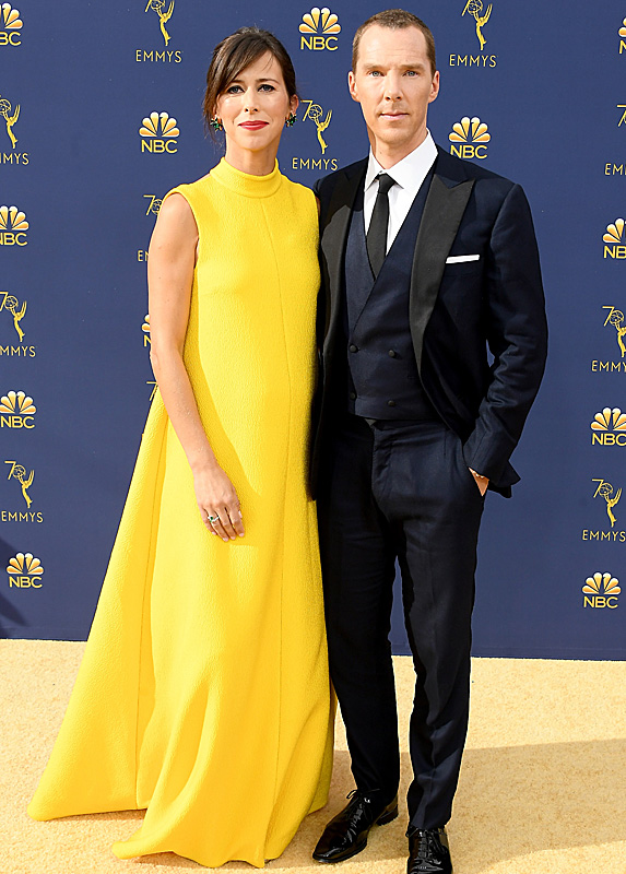 Sophie Hunter and Benedict Cumberbatch at the 2018 Emmy Awards