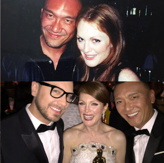 Joe Zee and Julianne Moore