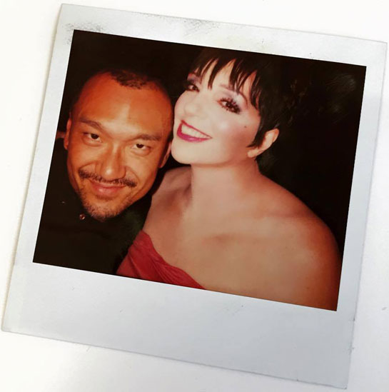 Joe Zee and Liza Minnelli