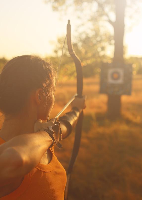 Shooting an arrow at a target