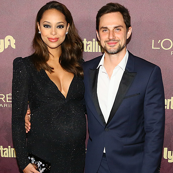 Amber Stevens West and Andrew J. West at pre-Emmys party in September 2018