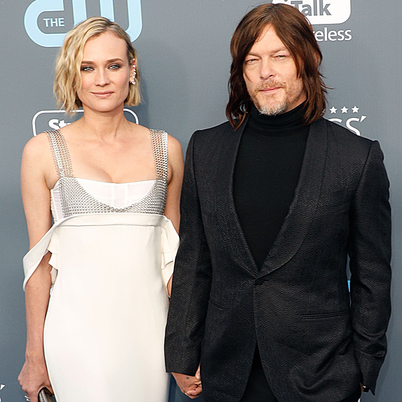 Diane Kruger and Norman Reedus at the Critics' Choice Awards in January 2018