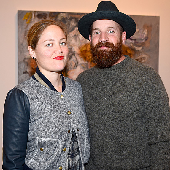 Erika Christensen and Cole Maness attend Vanessa Prager 'Dreamers' Art Opening in February 2015