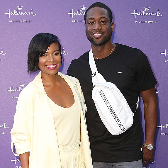 Gabrielle Union and Dwyane Wade at Hallmark event in July 2018
