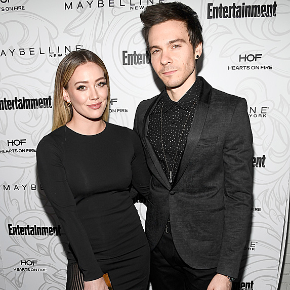 Hilary Duff and Matthew Koma at SAG nominees party in January 2017