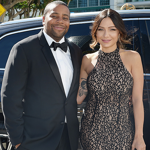 Kenan Thompson and Christina Evangeline at the 2018 Emmy Awards