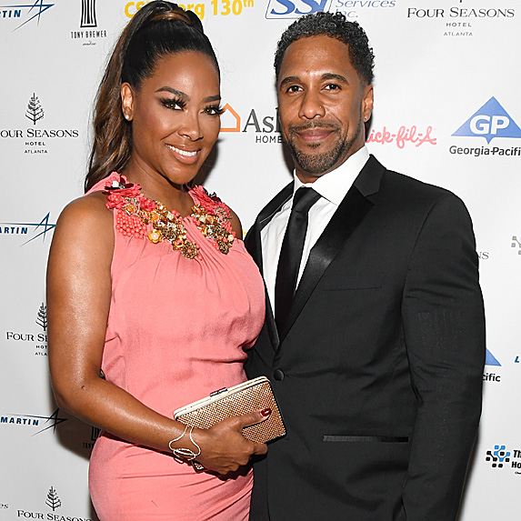 Kenya Moore and Marc Daly at the Carrie Steele-Pitts Home 130th Anniversary Gala at Four Seasons Hotel in March 2018
