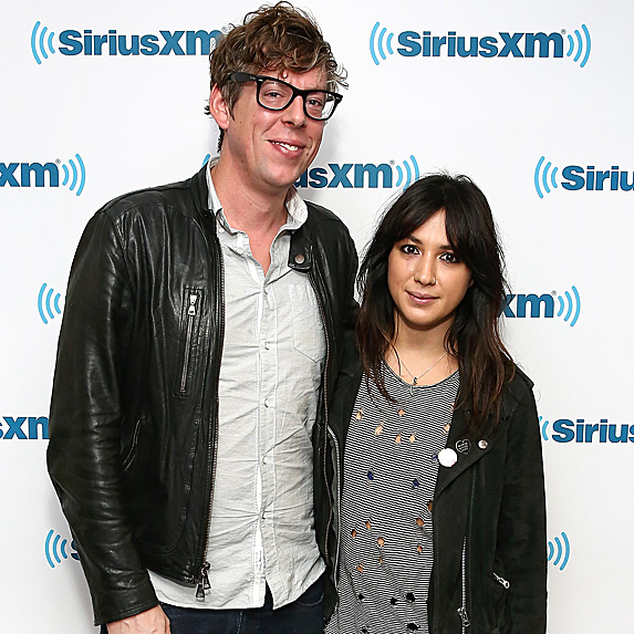 Patrick Carney and Michelle Branch at SiriusXM show in October 2016