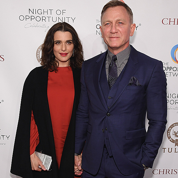 Rachel Weisz and Daniel Craig at The Opportunity Network's 11th Annual Night of Opportunity in April 2018