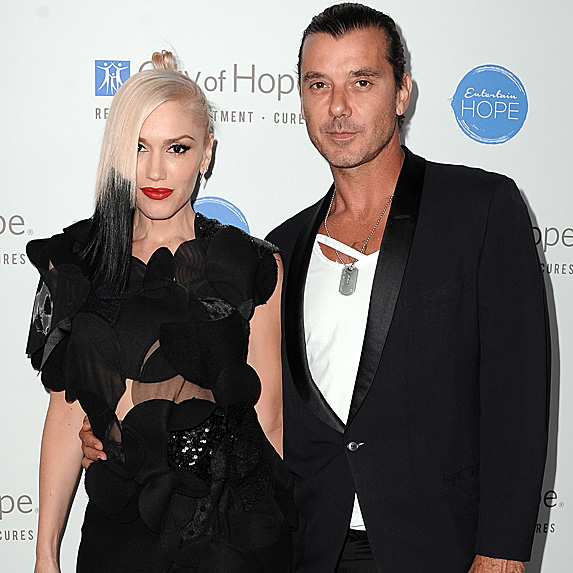 Gwen Stefani and Gavin Rossdale at the 2014 City of Hope Spirit of Life Gala