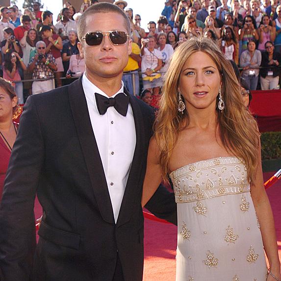 Brad Pitt and Jennifer Aniston at the 2004 Emmy Awards