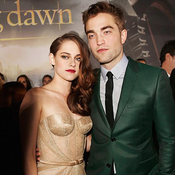 Kristen Stewart and Robert Pattinson at the Breaking Dawn premiere in 2012