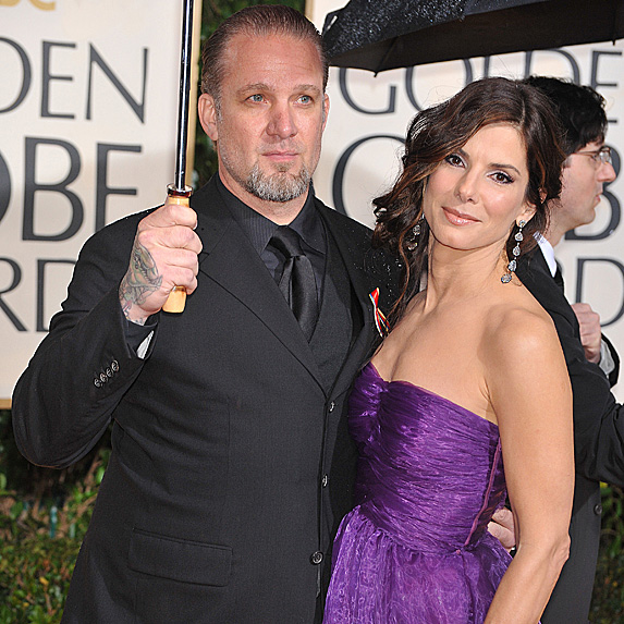 Jesse James and Sandra Bullock at the 2010 Golden Globe Awards