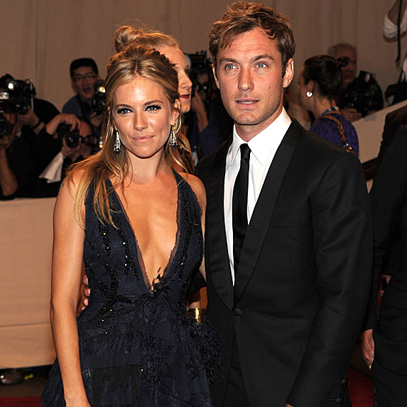 Sienna Miller and Jude Law at the 2010 Met Gala