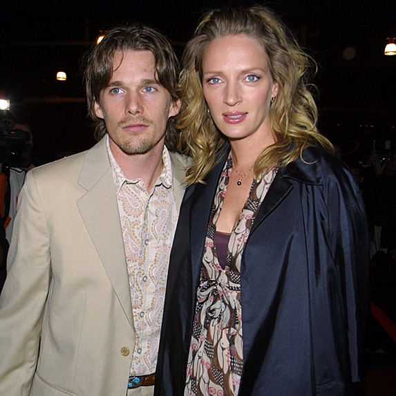 Ethan Hawke and Uma Thurman at the 2001 Gotham Awards