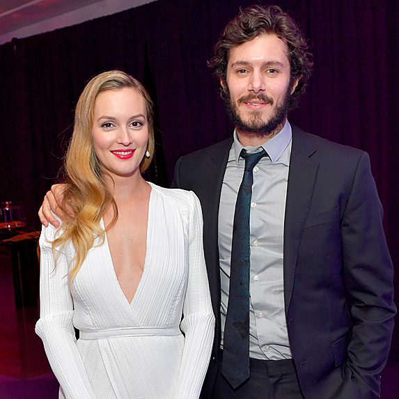 Leighton Meester and Adam Brody at a Golden Globes after-party in 2017