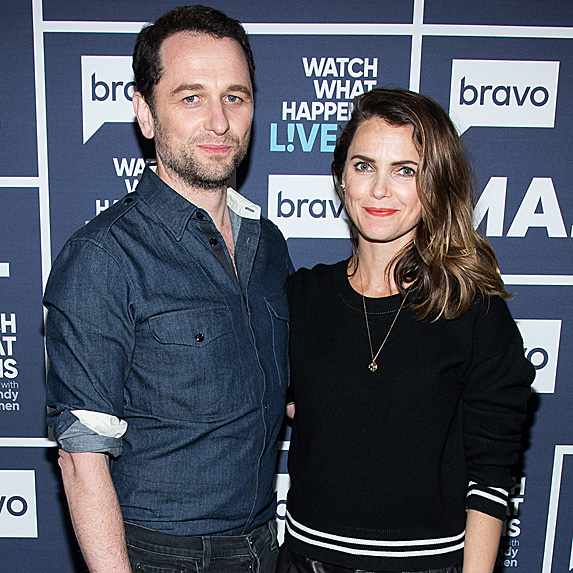 Matthew Rhys and Keri Russell at taping of Watch What Happens Live!