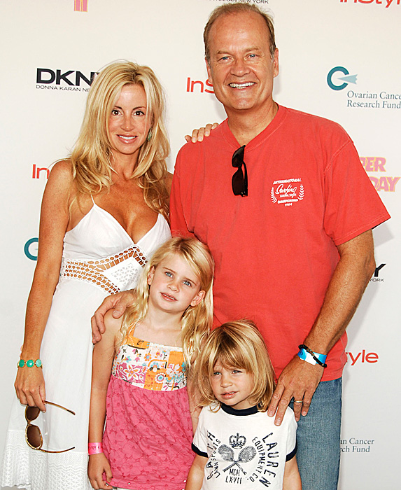 Camille Grammer, Kelsey Grammer and kids in 2008