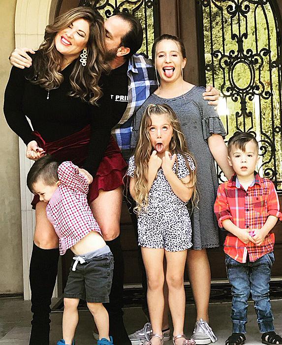 Emily Simpson, Shane Simpson and their kids