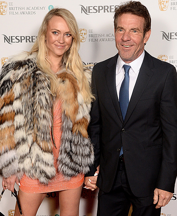 Kimberly Buffington and Dennis Quaid attend the Nespresso British Academy Film Awards Nominees party