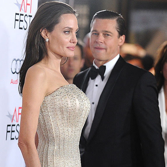 Angelina Jolie and Brad Pitt attending the 'By the Sea' opening gala in 2015