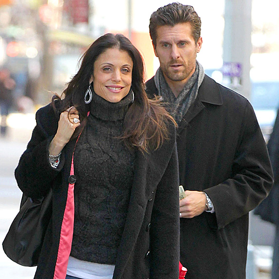 Bethenny Frankel and Jason Hoppy talking in NYC in 2012