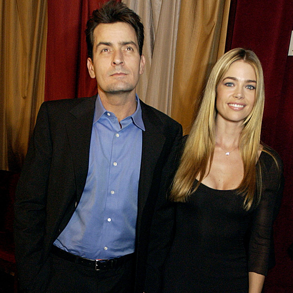 Charlie Sheen and Denise RIchards attend nightclub opening in Bellagio in 2002