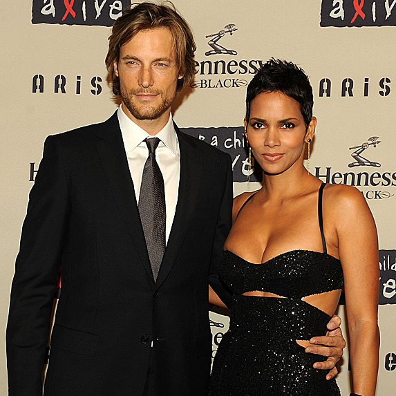 Gabriel Aubry and Halle Berry attend annual Black Ball in 2009
