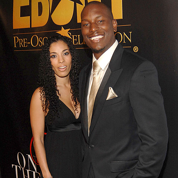 Norma and Tyrese Gibson at pre-Oscars celebration in 2008