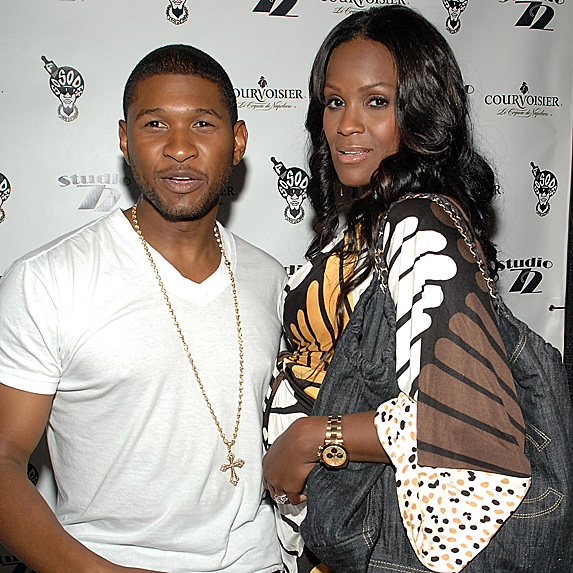 Usher and Tameka Foster in 2007