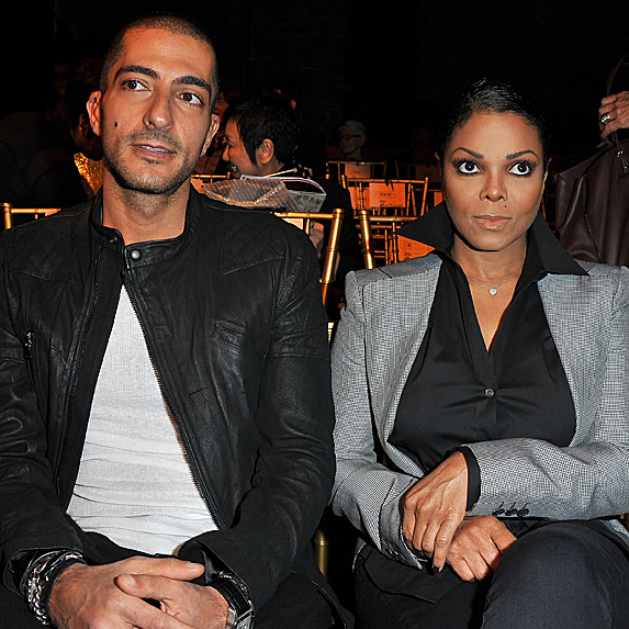 Wissam Al Mana and Janet Jackson attending Paris Fashion Week in 2011