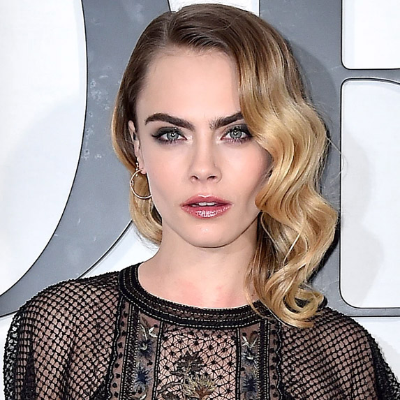 Cara Delevingne with beautiful eyebrows